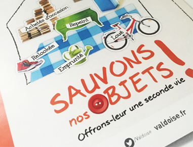 campagne, graphiste, developpement durable, dechets, illustration, creation, brochure, affiche